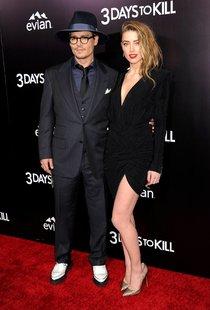 Поцелуи Джонни Деппа и Эмбер Херд на премьере фильма «Три дня на убийство» в Лос-Анджелесе: amber-heard-23_Starbeat.ru