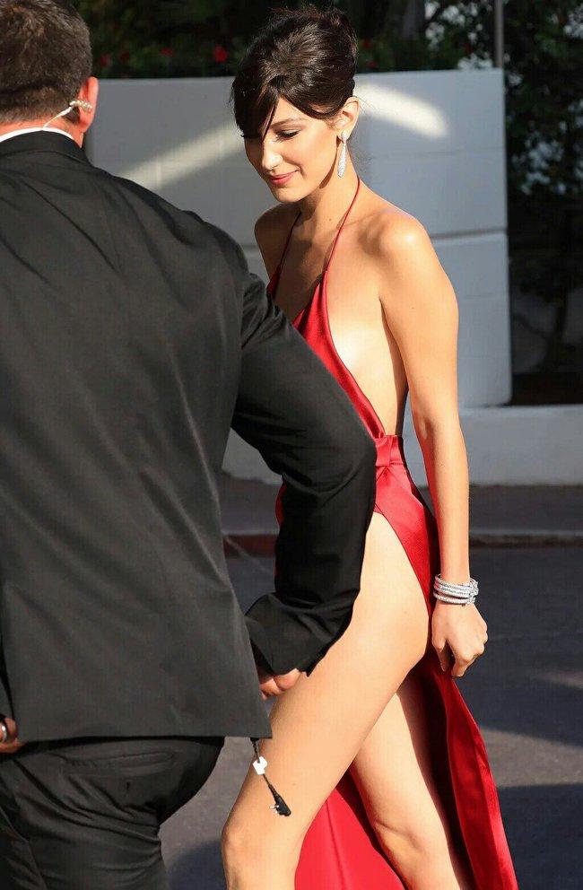 Почти голая Белла Хадид на премьере «La Fille Inconnue» в Каннах: bella-hadid-9-1_Starbeat.ru