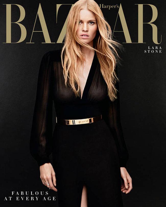 Лара Стоун в «Harper's Bazaar US», фотограф: Дэниэл Джексон (Daniel Jackson)