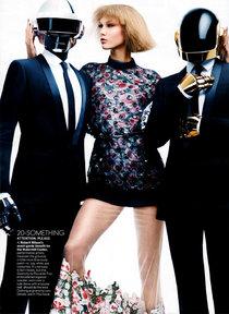 Супермодель Карли Клосс и группа «Daft Punk» в объективе Крейга Макдина: karlie-kloss-vogue-us-3_Starbeat.ru