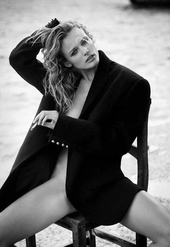 Полуобнажённая Эдита Вилкевичуте и чёрно-белые фото для «Vogue Germany» (июль 2016): edita-vilkeviciute-10_Starbeat.ru