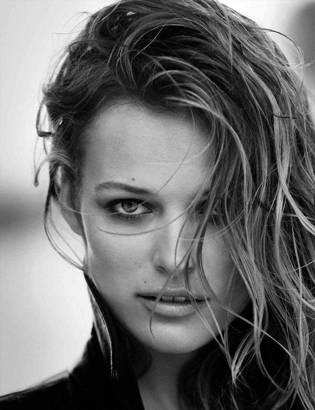 Полуобнажённая Эдита Вилкевичуте и чёрно-белые фото для «Vogue Germany» (июль 2016): edita-vilkeviciute-12_Starbeat.ru