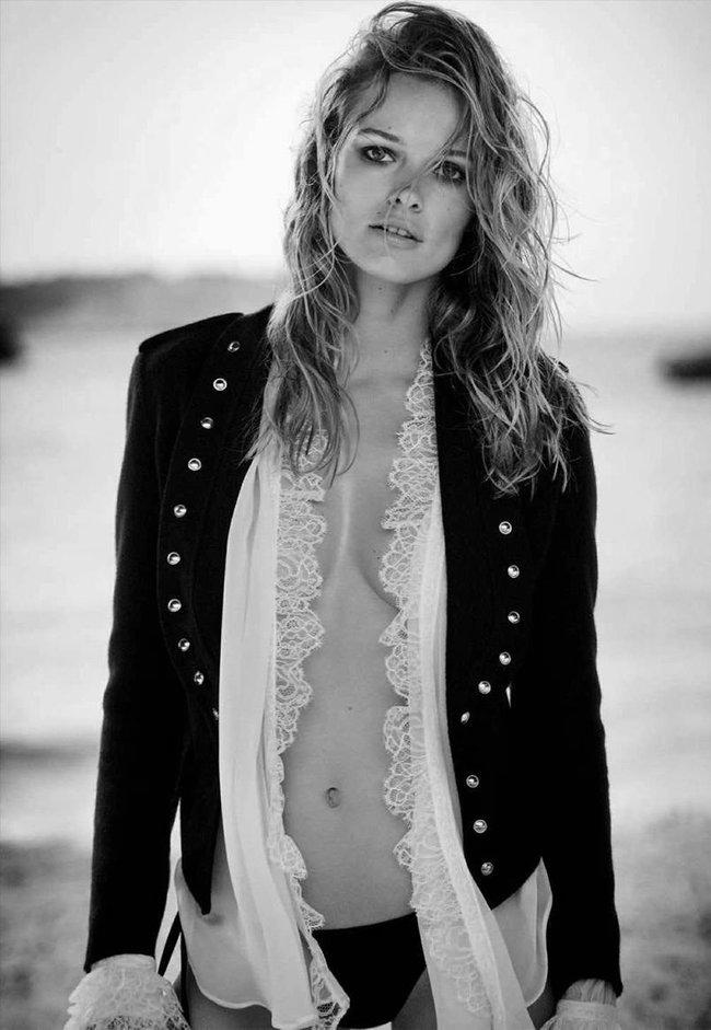 Полуобнажённая Эдита Вилкевичуте и чёрно-белые фото для «Vogue Germany» (июль 2016): edita-vilkeviciute-6_Starbeat.ru