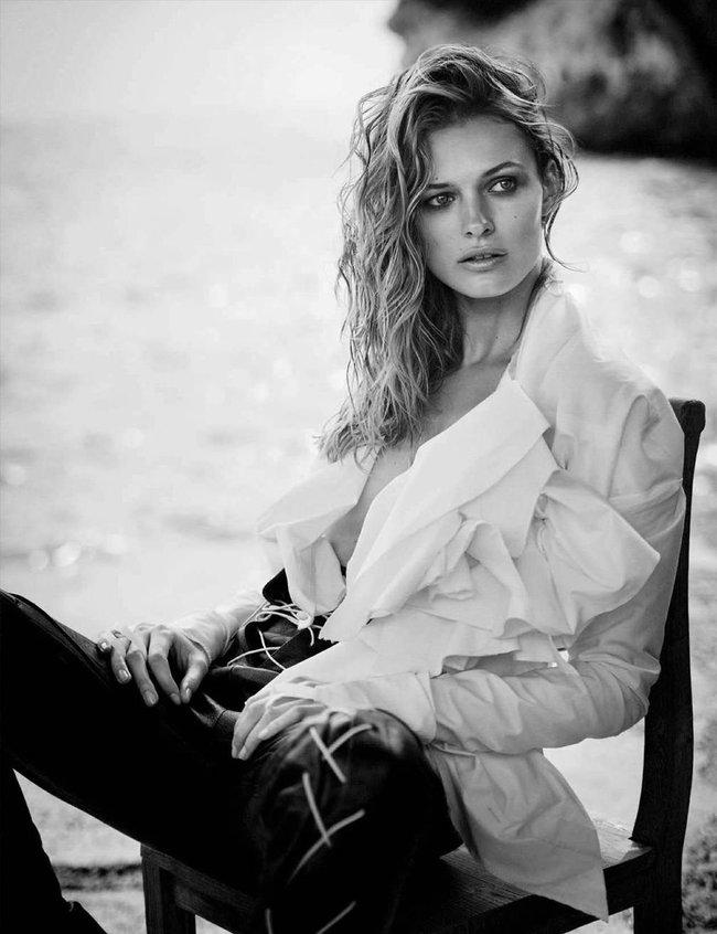 Полуобнажённая Эдита Вилкевичуте и чёрно-белые фото для «Vogue Germany» (июль 2016): edita-vilkeviciute-7_Starbeat.ru