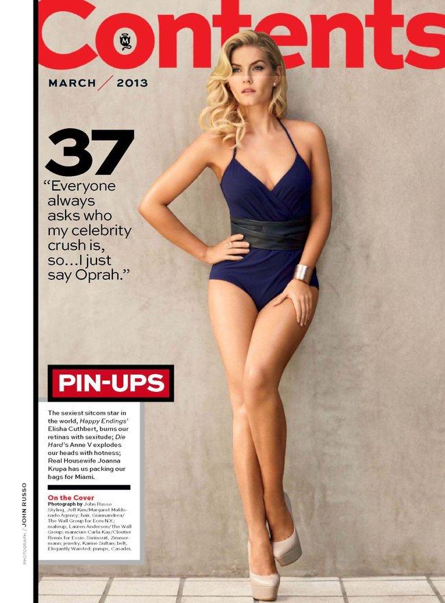 Элиша Катберт на обложке журнала «Maxim», март 2013 года: Elisha-Cuthbert-2_Starbeat.ru