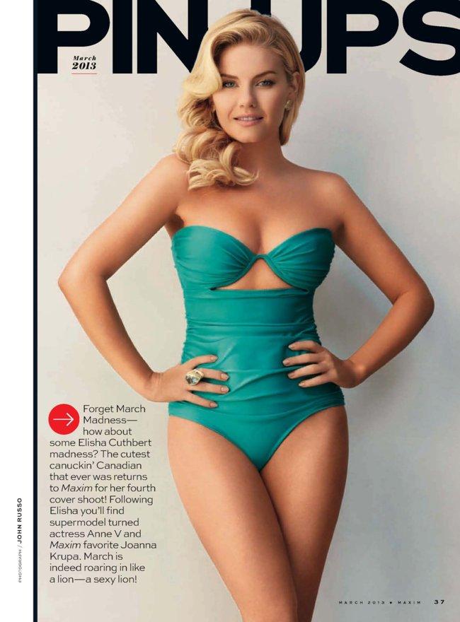 Элиша Катберт на обложке журнала «Maxim», март 2013 года: Elisha-Cuthbert-3_Starbeat.ru