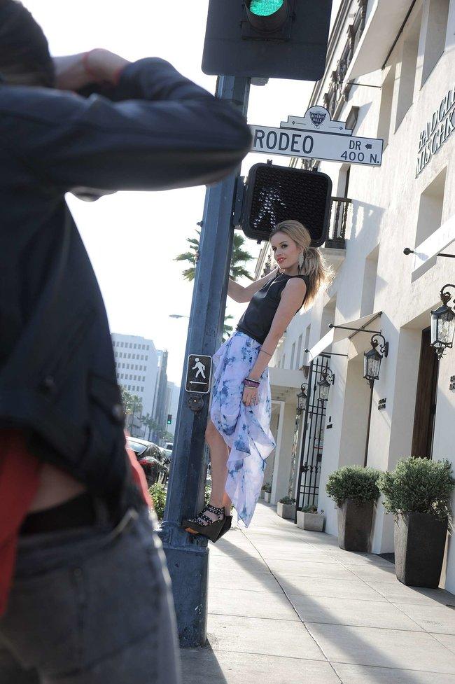 Джорджия Мэй Джаггер на съемках рекламной кампании «Material Girl»: georgia-may-jagger-material-girl-2013-campaign--05_Starbeat.ru