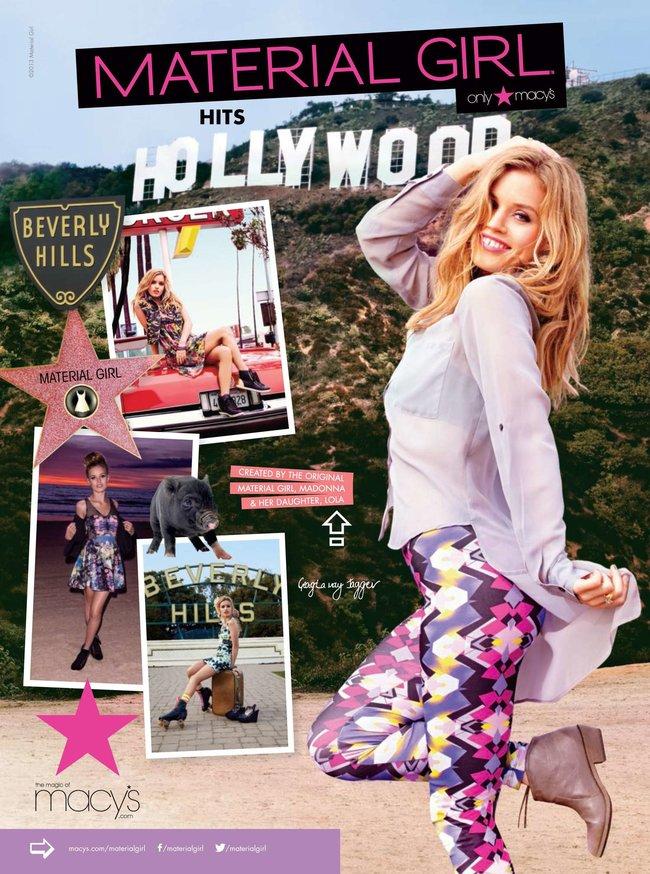 Джорджия Мэй Джаггер на съемках рекламной кампании «Material Girl»: georgia-may-jagger-material-girl-2013-campaign--15_Starbeat.ru