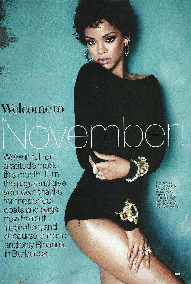 Ноябрьский выпуск журнала «Glamour US»: фотосессия Рианны: rihanna-glamour-2_Starbeat.ru