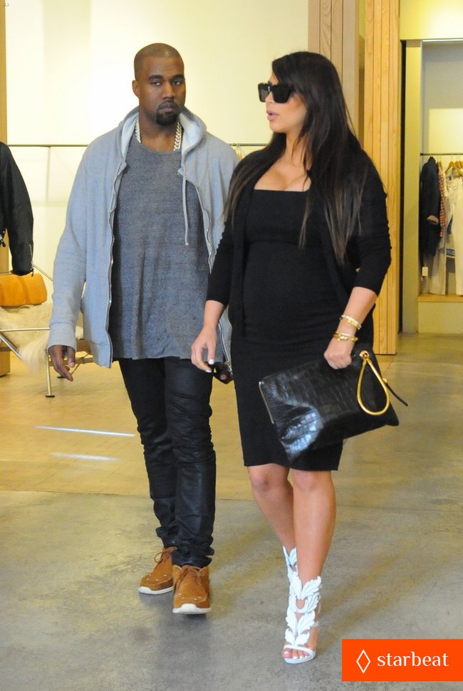 Ким Кардашьян и Канье Уэст снова вместе после долгой разлуки: pregnant-kim-kardashian-kanye-west-reunite-in-nyc-15_Starbeat.ru