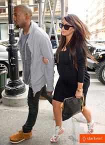 Ким Кардашьян и Канье Уэст снова вместе после долгой разлуки: pregnant-kim-kardashian-kanye-west-reunite-in-nyc-01_Starbeat.ru