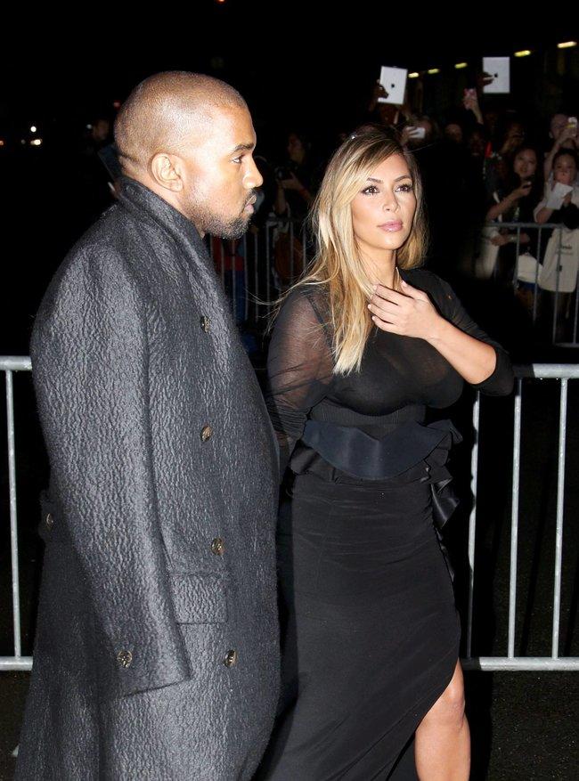 Ким Кардашьян и Канье Уэст на модном показе «Givenchy 2014» в Париже: kim-kardashian-14_Starbeat.ru