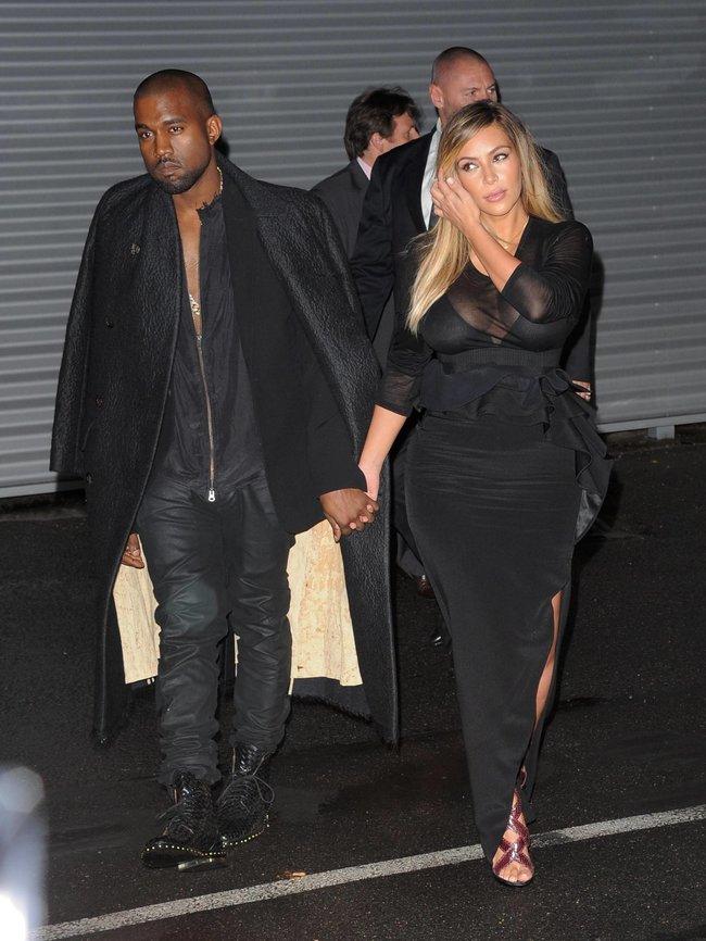Ким Кардашьян и Канье Уэст на модном показе «Givenchy 2014» в Париже: kim-kardashian-28_Starbeat.ru