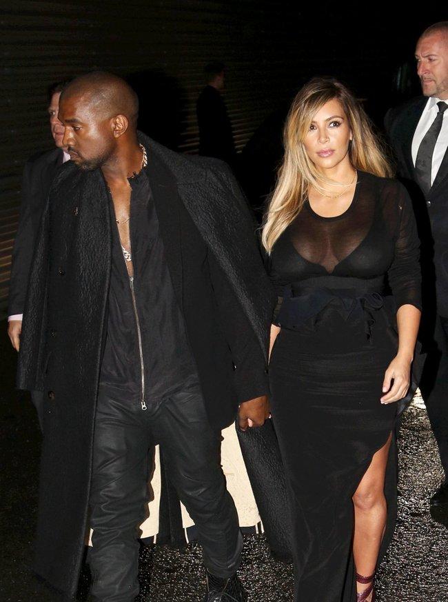 Ким Кардашьян и Канье Уэст на модном показе «Givenchy 2014» в Париже: kim-kardashian-31_Starbeat.ru