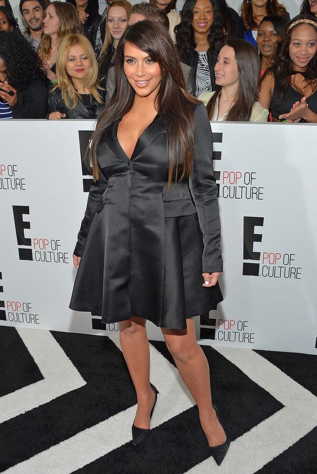 Вечеринка «E! 2013»: беременная Ким Кардашьян: kim-kardashian---e-2013-upfront--05_Starbeat.ru