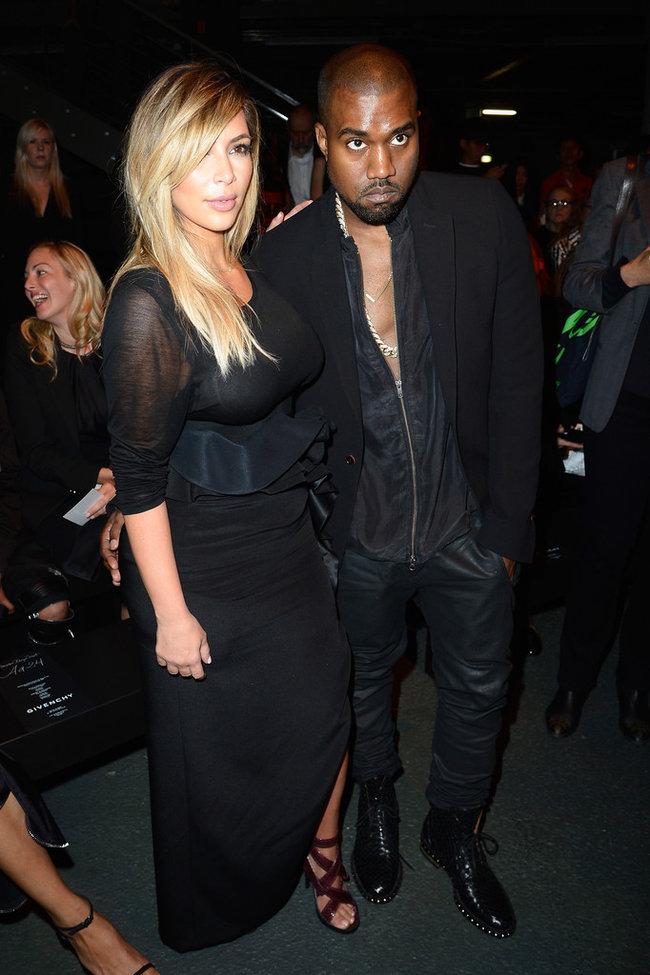 Ким Кардашьян и Канье Уэст на модном показе «Givenchy 2014» в Париже: kim-kardashian-fashion-show-2013-in-paris--16_Starbeat.ru