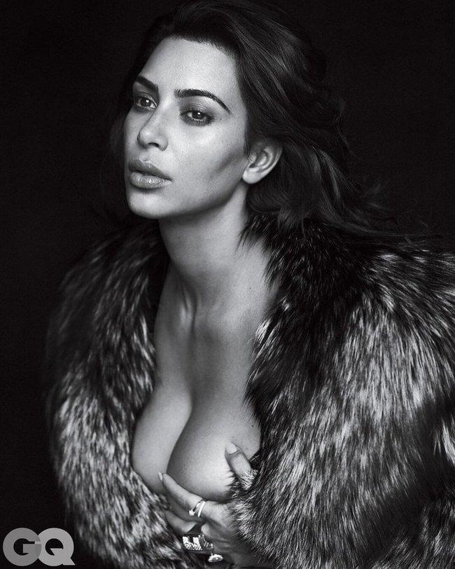 И снова здравствуйте: Ким Кардашан для «GQ Magazine Naked Photoshoot» (июнь 2016): kim-kardashian-2-4_Starbeat.ru