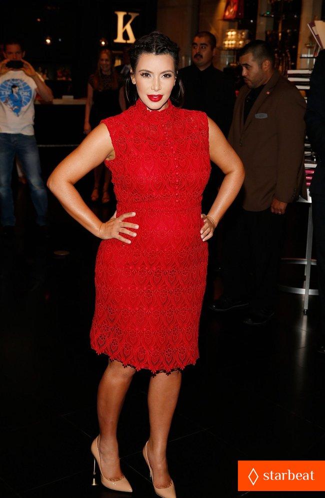 Ким Кардашьян представила свой новый аромат «Glam»: pregnant-kim-kardashian-glam-perfume-promotion-in-las-vegas-26_Starbeat.ru