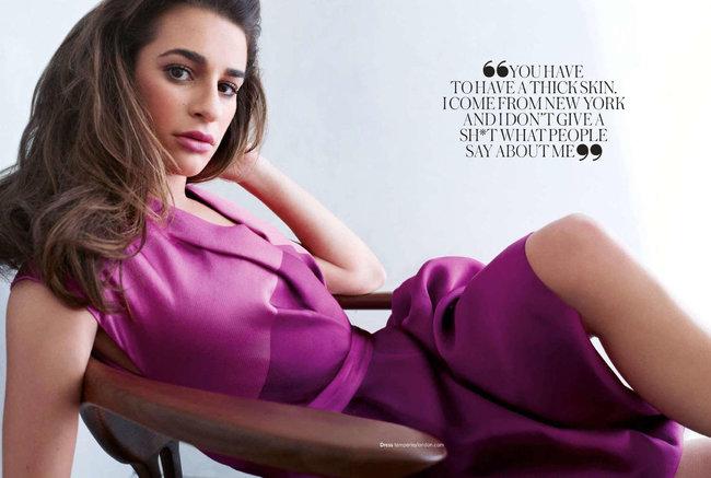 «Glamour UK» в апреле: заводная красотка Леа Мишель: lea-michele-glamour-uk--06_Starbeat.ru