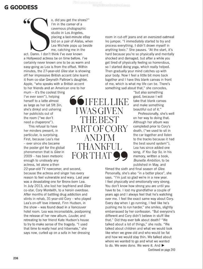 «Glamour UK» в апреле: заводная красотка Леа Мишель: lea-michele-glamour-uk--11_Starbeat.ru