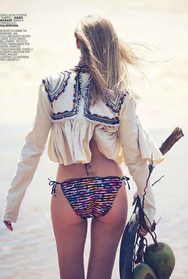 Марло Хорст кидает кости на пляже: две сиськи идут уже в базовой комплектации! Marie Claire Italy Magazine (июнь 2016): marloes-horst-22_Starbeat.ru