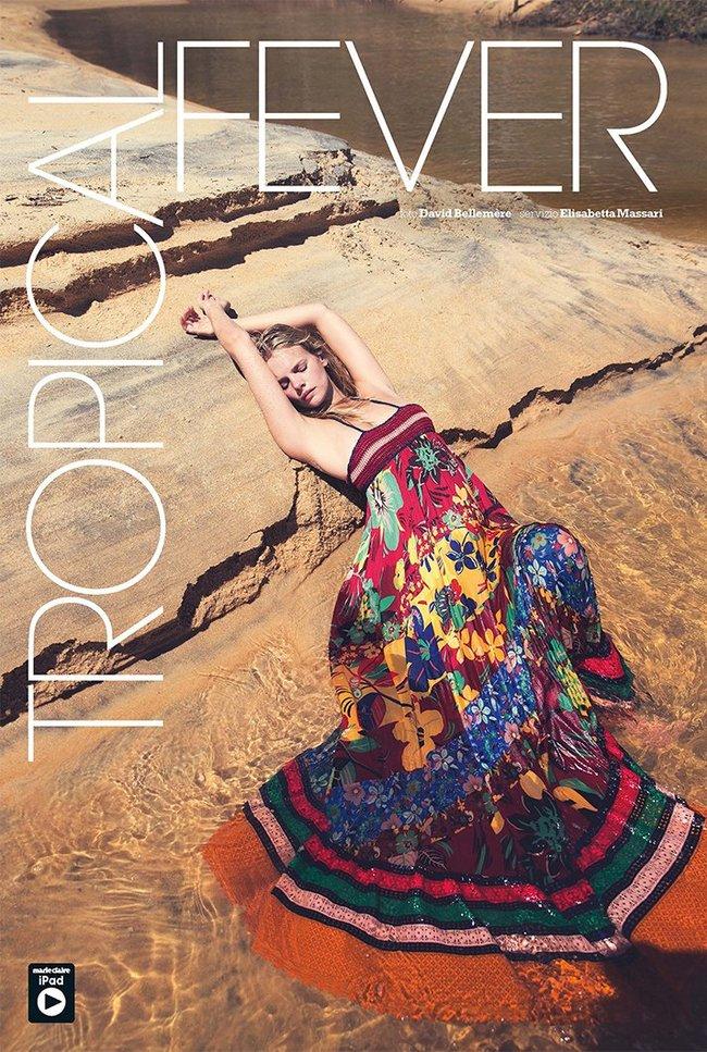 Марло Хорст кидает кости на пляже: две сиськи идут уже в базовой комплектации! Marie Claire Italy Magazine (июнь 2016): marloes-horst-2_Starbeat.ru