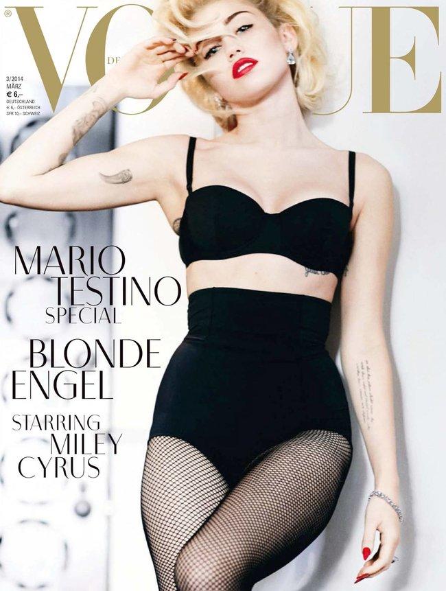 Топлесс-фотосессия в мартовском «Vogue Germany»: Майли Сайрус: miley-cyrus-15_Starbeat.ru