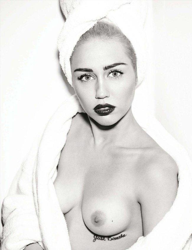 Топлесс-фотосессия в мартовском «Vogue Germany»: Майли Сайрус: miley-cyrus-61_Starbeat.ru