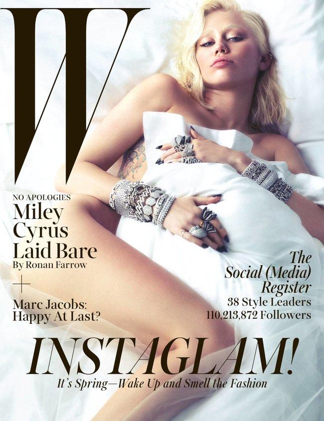 Полуобнаженная фотосессия Майли Сайрус для мартовского номера журнала «W»: miley-cyrus-31_Starbeat.ru