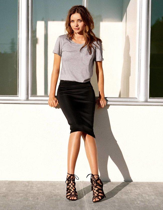 Миранда Керр в весеннем лукбуке бренда «H&M» (2014)