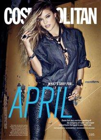 Девушка с обложки: Нина Агдал в апрельском «Cosmopolitan US»: nina-agdal-cosmopolitan-us--01_Starbeat.ru