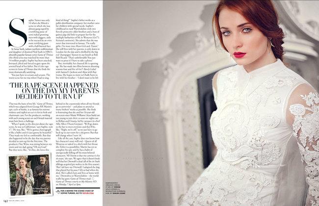 Софи Тернер на страницах журнала «Tatler UK» (апрель 2014): sophie-turner-tatler-uk--01_Starbeat.ru