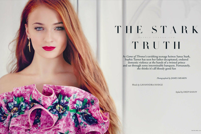 Софи Тернер на страницах журнала «Tatler UK» (апрель 2014): sophie-turner-tatler-uk--02_Starbeat.ru