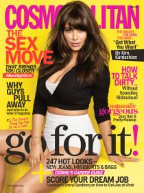 Ким Кардашьян на обложке журнала «Cosmopolitan 2013»: April-2013-Kim-Kardashian-210x282