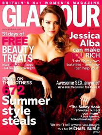 «Glamour UK» в мае: Джессика Альба на обложке журнала: jessica-alba-1-210x278