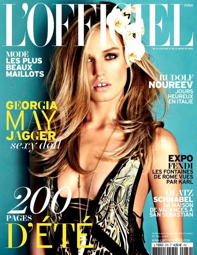 Обзор летних обложек глянцевых журналов 2013: Georgia-May-Jagger-lofficiel_Starbeat.rujune-july-650x841