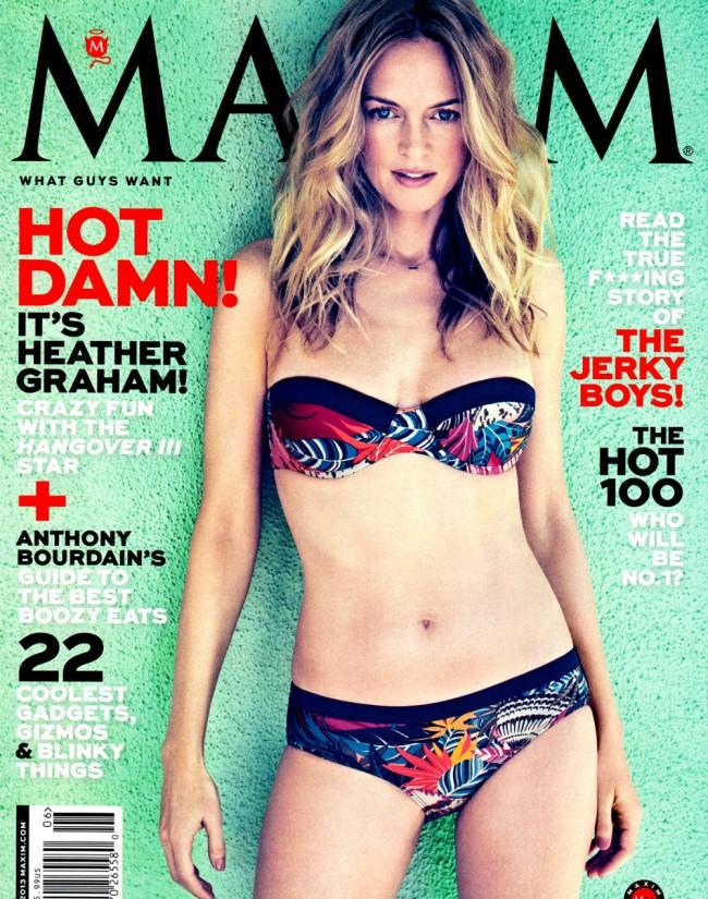 Обзор летних обложек глянцевых журналов 2013: Heather-Graham-by-James-Macari-for-Maxim-US-June-2013-650x825
