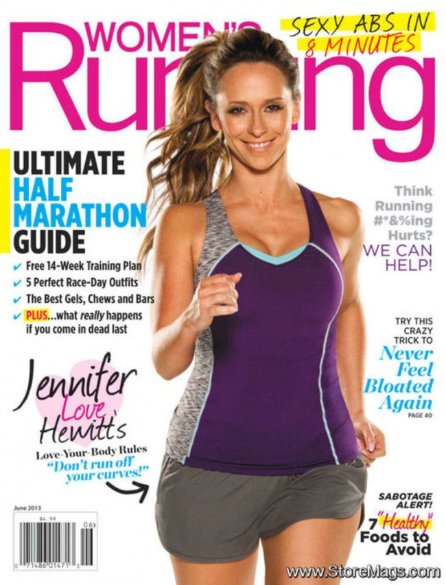 Обзор летних обложек глянцевых журналов 2013: Jennifer-Love-Hewitt-–-WOMEN'S-RUNNING-Magazine-Cover-June-2013-650x852