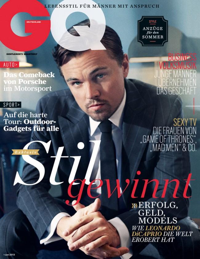 Обзор летних обложек глянцевых журналов 2013: Leonardo-DiCaprio-for-GQ-Germany-June-2013-650x843